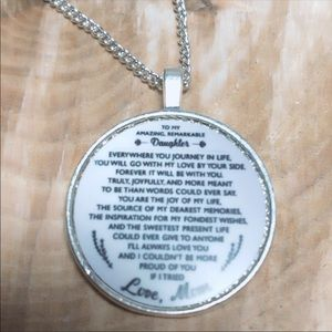 925 Silver Daughter Medal Medallion Necklace 18""